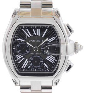 Cartier Cartier Roadster Chronograph Stainless Steel Black Dial Watch