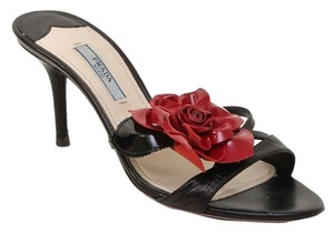 Prada Black, Red Sandals