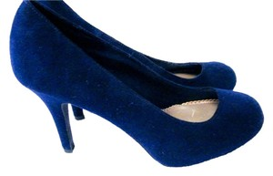 Fioni Heels Fun Colorful Suede Medium Blue Pumps