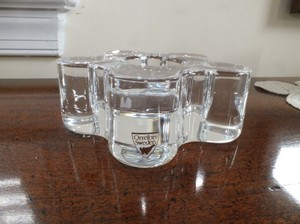 Orrefors Summertime Clear Crystal Votive Candle Holder