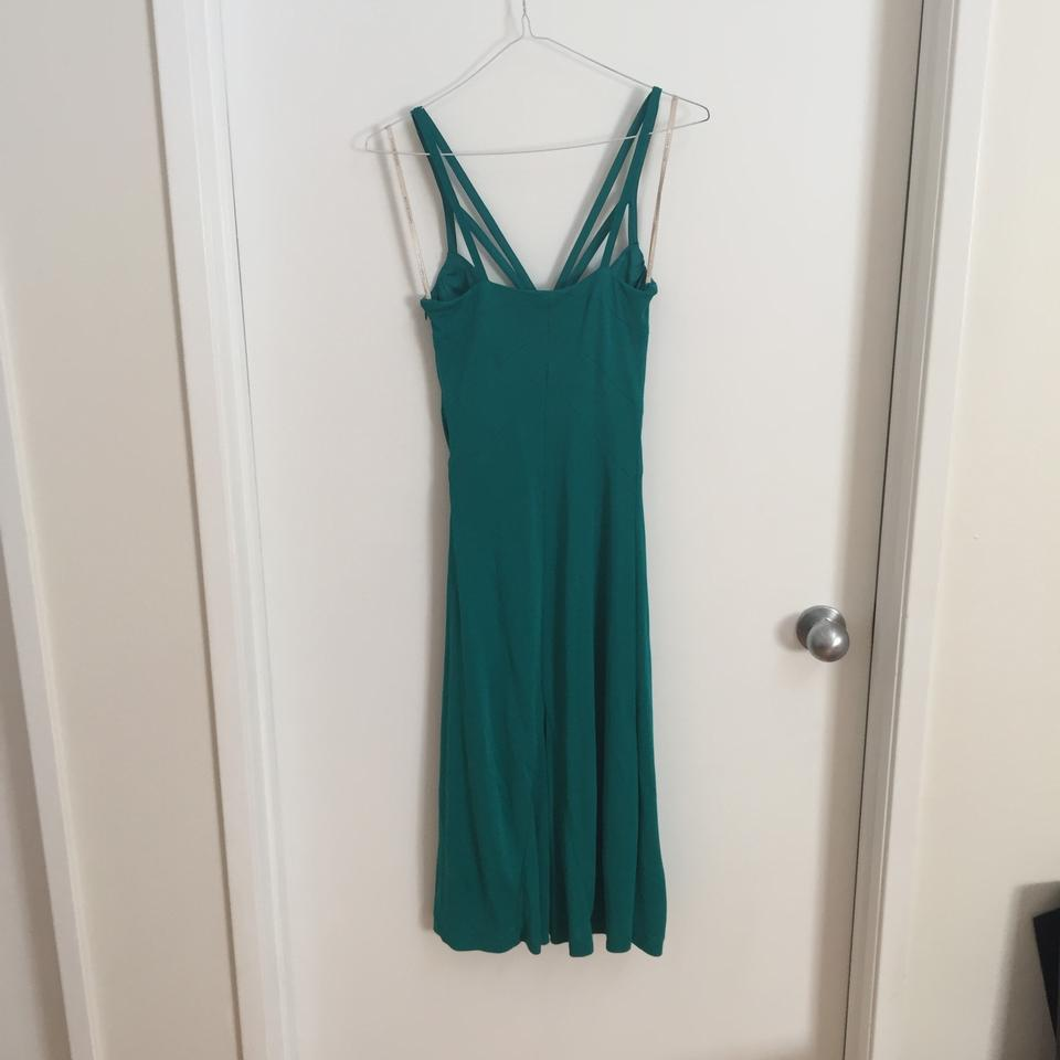 Karen millen green gold rope mid length cocktail dress size 6 s 1234567891011 ombrellifo Choice Image