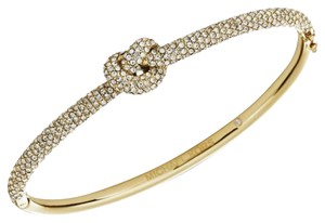 Michael Kors Michael Kors Brilliance Knot Gold Tone Crystal Pave Bangle Bracelet MKJ4191