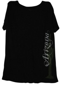 Green weekend T Shirt Black