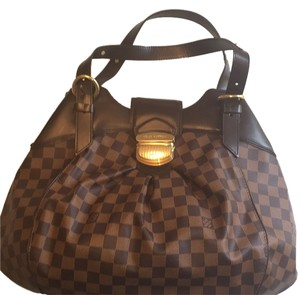 Louis Vuitton Satchel in Brown/gold