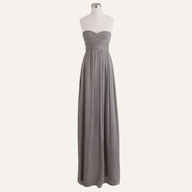 Item - Gray Silk Chiffon Taryn Formal Bridesmaid/Mob Dress Size 2 (XS)