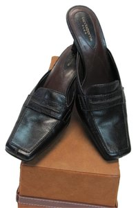 Liz Claiborne Leather Size 7.00 M Black Mules