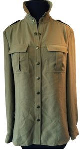 Burberry Brit Button Down Shirt Olive Green