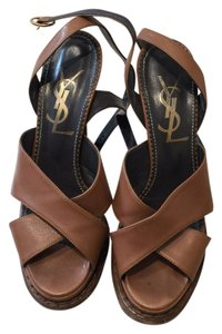 Saint Laurent Nude Brown / Tan Sandals