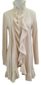Saks Fifth Avenue Cashmere Ruffled Detail Cardigan