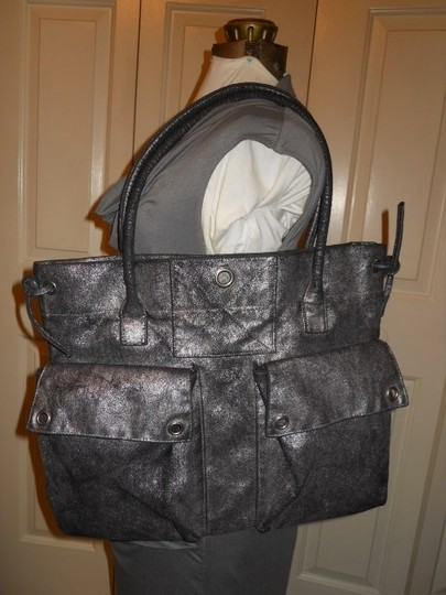 Old Navy Tote in black & silver