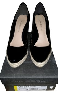 Via Spiga Casual Black Patent Wedges