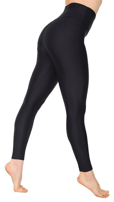 Item - Black Nylon Tricot High Waisted Activewear Bottoms Size 8 (M, 29, 30)