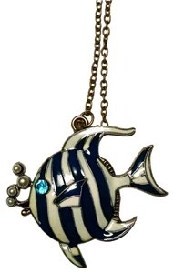 Fish Necklace Brass Pendant 26 in. New Jewelry J1353 Summersale