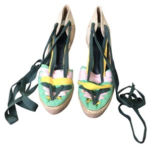 Stella McCartney Multi Color (green, yellow & pink) Platforms
