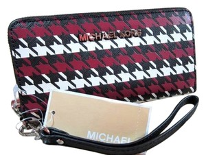 Michael Kors RARE Michael Kors houndstooth leather Coin Purse Wallet card case phone holder