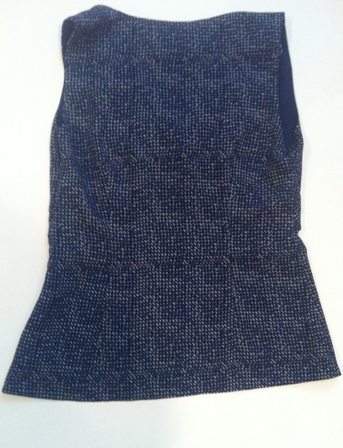 Ann Taylor LOFT Top Blue pattern