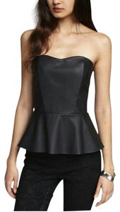 Express Notleather Peplum Hot Top Black