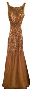 Jovani Gold Nude Crystal Prom 171100 Dress