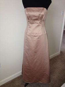 Amsale Beige G144 Formal Bridesmaid/Mob Dress Size 6 (S)