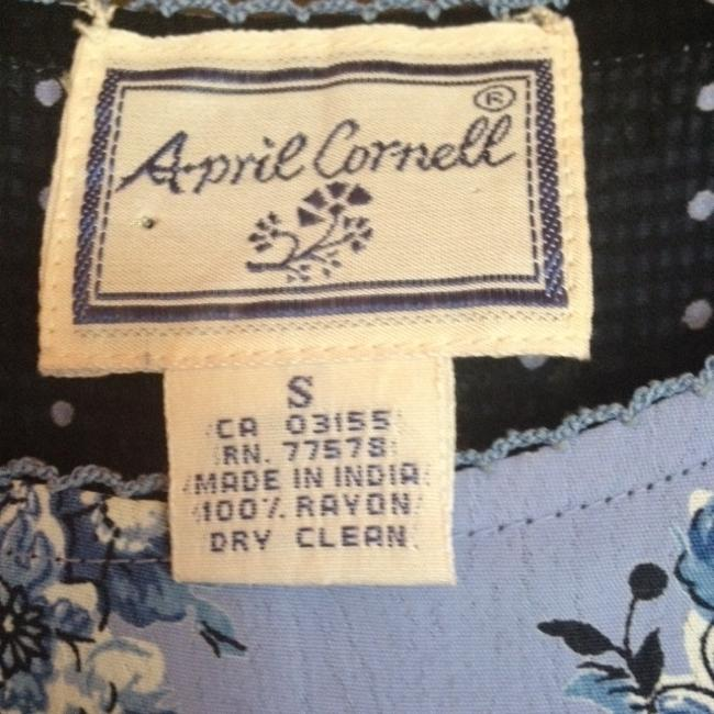 Navy Blue/Light Blue Maxi Dress by April Cornell Reversible