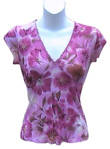 Self Esteem Floral Top Pink