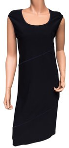 Black Maxi Dress by DKNY Scoop Neck Rayon