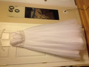 Oleg Cassini Strapless Tulle Ball Gown - Cpk 440 Wedding Dress
