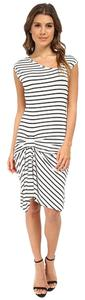 Tart short dress White, black White Striped on Tradesy