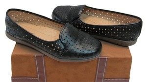 Comfortview Very Good Condition Size 8.00 Wide Cut/out Design Black Flats