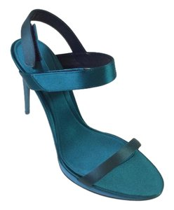 Burberry Fashion Pump Peep Toe Heel Teal Sandals