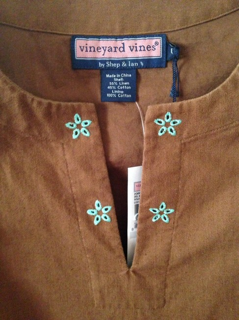 Vineyard Vines short dress Brown & Turquoise on Tradesy