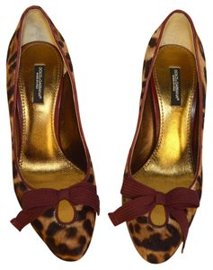 Dolce&Gabbana Party Heels D&g Heels Brown / Burgandy / Beige Pumps