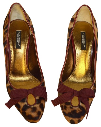 Dolce&Gabbana Party Heels D&g Heels Brown / Burgandy / Beige Pumps Image 0
