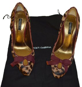 Dolce&Gabbana Party Heels D&g Dolce Gabbana Brown / Burgandy / Beige Pumps
