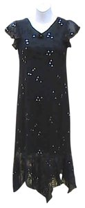 Black Maxi Dress by La Belle Floral Glitter