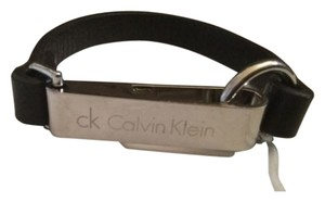 Calvin Klein Calvin Klein ~ Leather Bracelet With Silver Plate ~ NWT ~