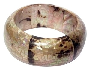 D Gaspar D Gaspar ~ Mother of Pearl Bangle ~ Gold ~ New ~ Gorgeous!