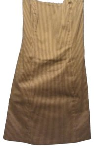 Robin Jordan short dress beige with stripe print on Tradesy