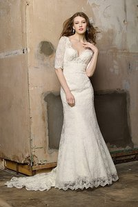 Watters Ivory Lace Astoria Formal Wedding Dress Size 8 (M)
