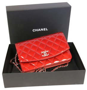 Chanel Le Boy Patent Leather Coco Cross Body Bag
