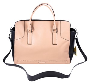 BCBGMAXAZRIA Tan/Black Travel Bag