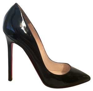 Christian Louboutin Patent Red Soles Formal Sexy Classic Black Pumps