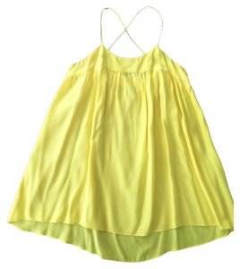 Geren Ford Bright Silk Loose Top Yellow