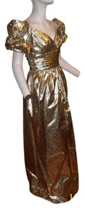 Mike Benet Evening Gown Ballgown Gold 4 Prom Costume Princess Queen Cleopatra Dress