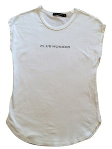 Club Monaco T Shirt White w/ Gray Logo