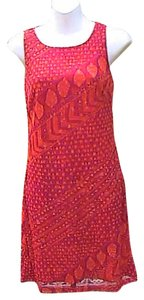 Byer Too short dress Red & Orange Sleeveless on Tradesy