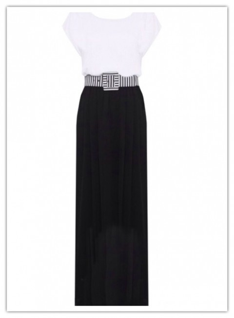 Black And White Maxi Dress by Alice + Olivia