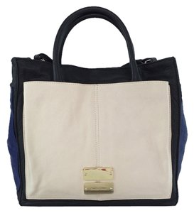 See by Chloé Nellie Colorblock Tote in Ivory, blue and black