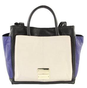 See by Chloé Nellie Colorblock Blue Black Tote in Multicolor