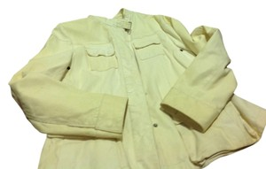 Banana Republic White Leather Jacket